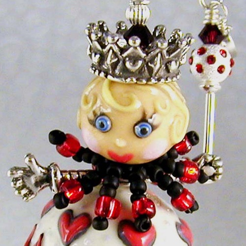 Queen of Hearts Doll Pendant