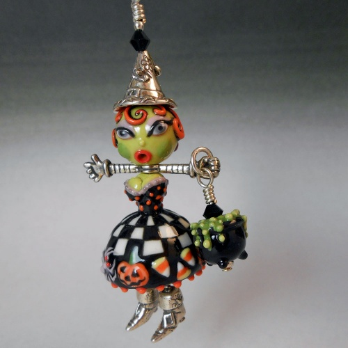Fashionista Witch Pendant