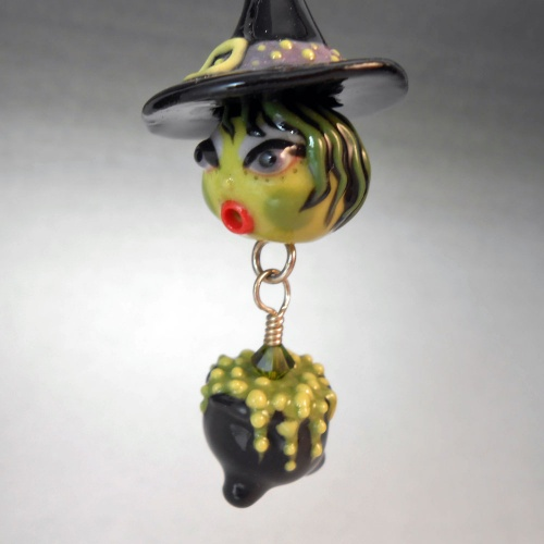 Witch and Cauldron Pendant