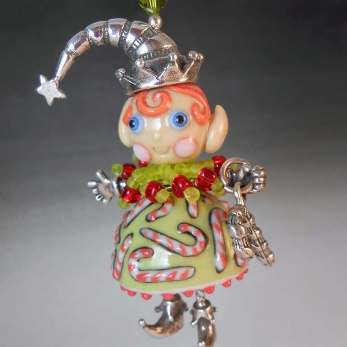 Candy Cane Elf Pendant