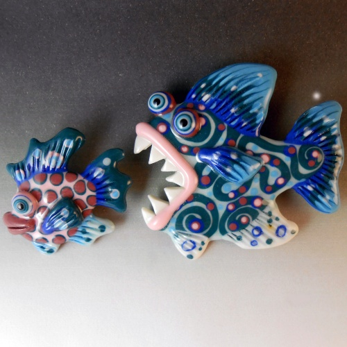 Fish Scatter Pin Set