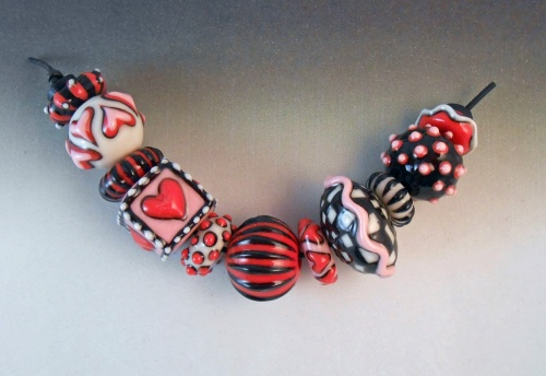 Alice in Wonderland Hearts Bead Strand